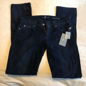 7 for all mankind TALL, NWT straight leg cords